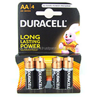 Duracell Duralock Pilhas Alcalinas AA Pack of 4