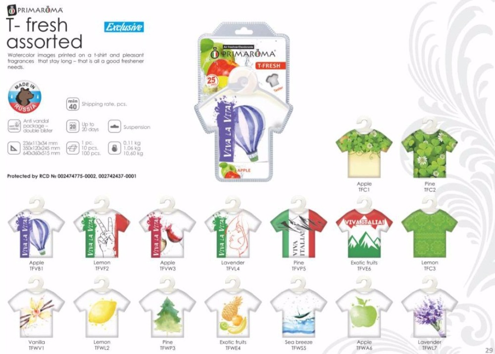Air freshener T-fresh assorted