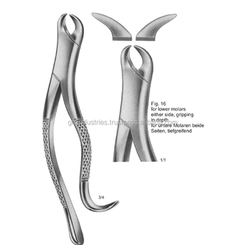 DENTAL EXTRACTION FORCEPS American Pattern Fig.16 Dentist instruments Tools