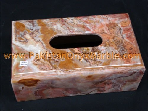 DECORATIVE ONYX TISSUE PAPER BOXS HANDICRAFTS