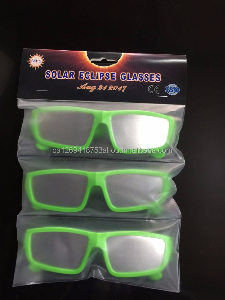 ISO Certifited SEI10010-501 Plastic Solar Eclipse Glasses