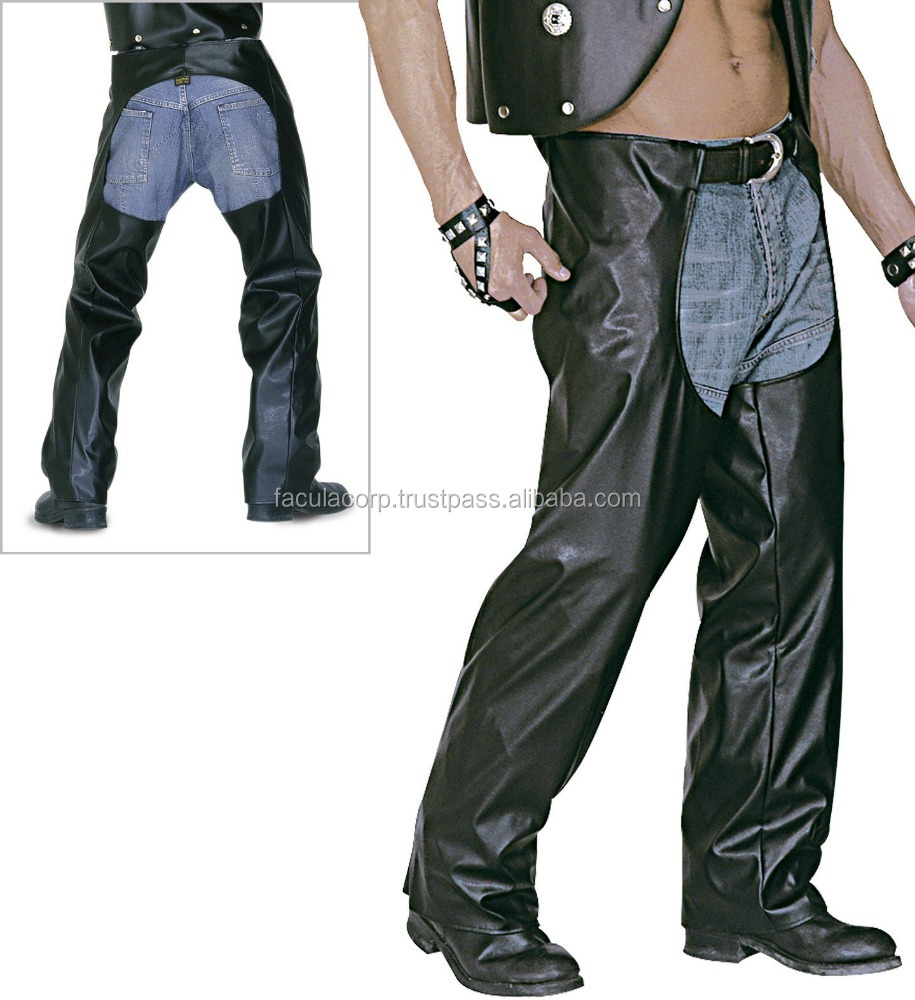 BIKER WESTERN COWBOY CHAPS YMCA VILLAGE PEOPLE LEATHER LOOK FC-8978