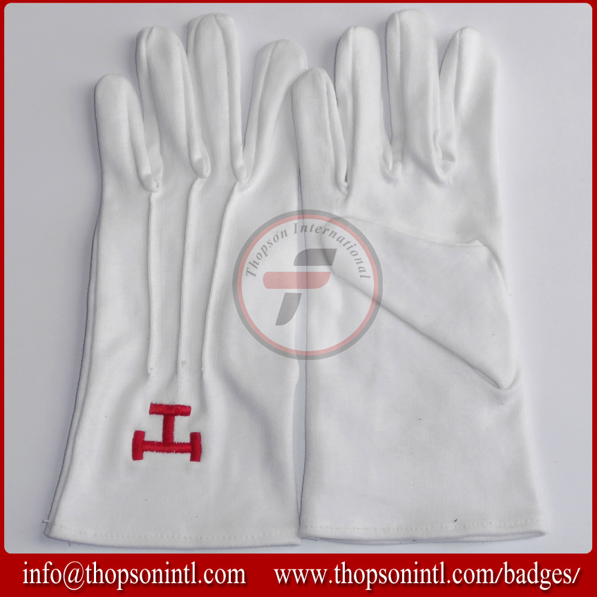 Masonic Royal Arch Cotton Gloves