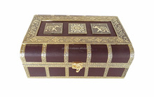 PD Craft ELEPHANT DESIGNED, ARTIFICIAL LEATHER FINISH, WOODEN HANDMADE PREMIUM BANGLE BOX with Mirror and 2