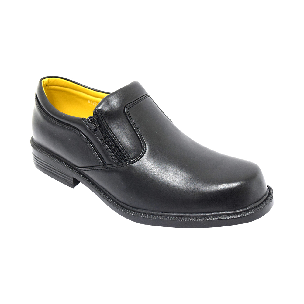 FASHION & STYLE MEN'S SYNTHETIC LEATHER SHOES ONLINE SALE (MS 8122 BK) BLACK