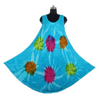 100% Cotton Wholesale New Arrival DRT007 Indian Handmade Tie Dye Dress
