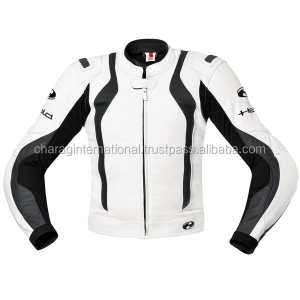 CUSTOM MADE LEATHER MOTORBIKE JACKET WITH ARMOR