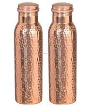 Handmade Joint free Leak Proof Pure Copper Hammer water Bottle Travel Good Health yoga