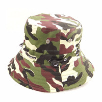 Outdoor Summer Cotton Safari Hiking Bucket Hat camouflage Jungle