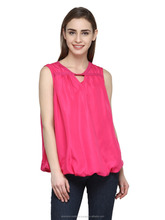 Embroidered Blouse New Model Top Pink Color Ladies Wear Ladies Blouse And Top