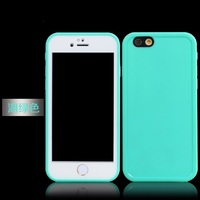 Work with ID Touch Full Body Screen Protect Waterproof Water Resistant Soft TPU Front&Back Case For iPhone 5 5s 6s /iphone6 4.7""