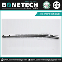 Tibia Interlocking Nail Designed with Utilizing High Grade Raw Material