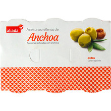 ALIADA ANCHOVY STUFFED OLIVES 6-PACK TINS