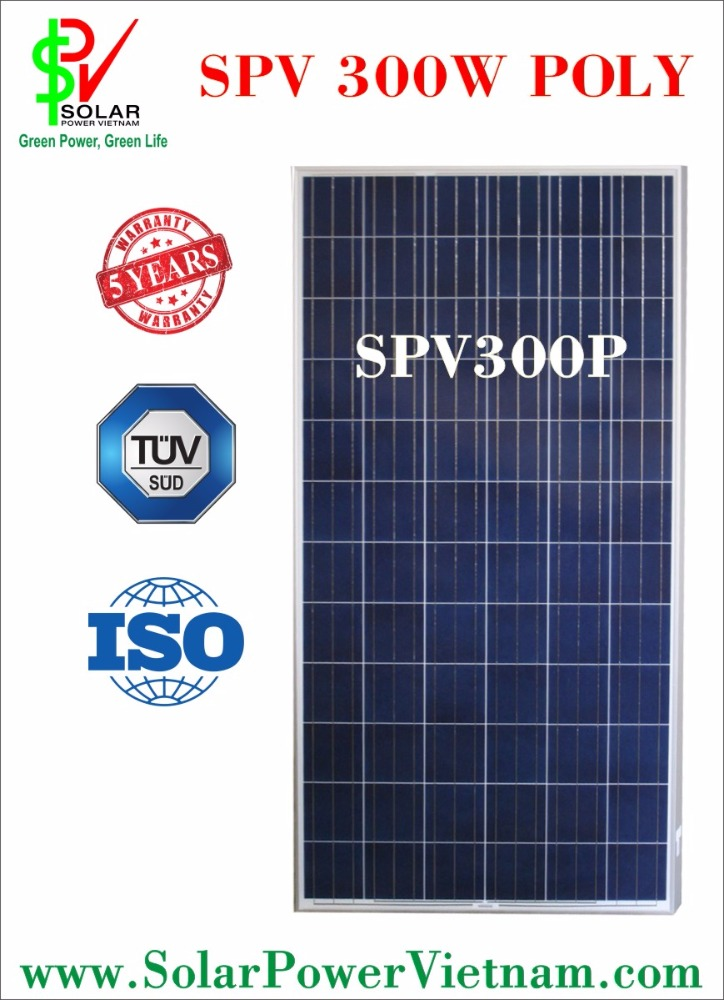 high quality solar panel made by Germany/USA/Korea solar cells - 300W poly - 24V
