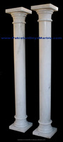 Super White Marble Columns and Pillars