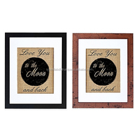 TBW32 Love You to the Moon Burlap Wall Art