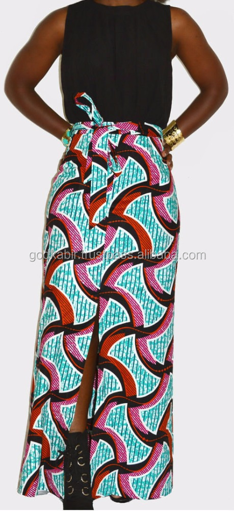 Antique print dress, African evening dress, Ankara wedding dress, /African Print Slit Maxi Dress - Fall/Autumn Inspired/Season .