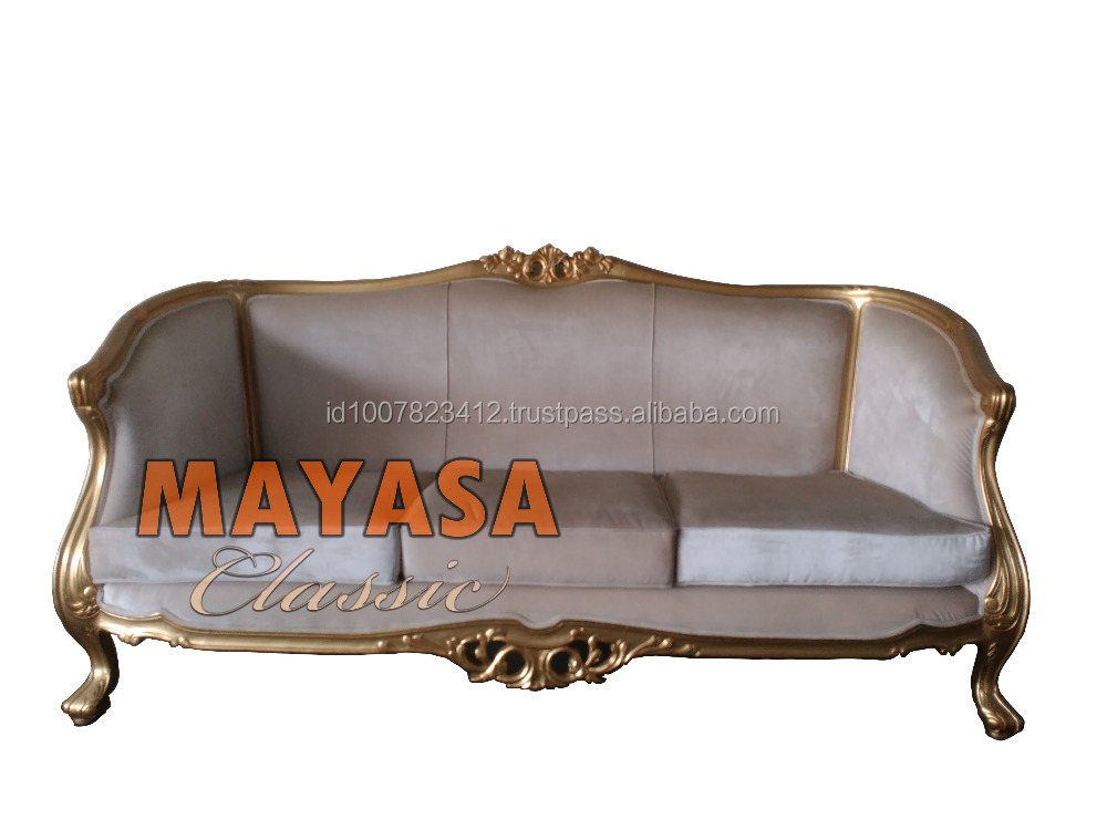 French Crhistian Sofa 3 Seater Jepara Classic Furniture