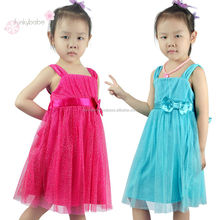 Directly Manufacturer Sequins Mesh Cover Party Chinese Dress for Children