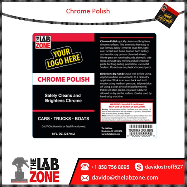 Brightness Enhancing Private Label Chrome Polish Compound Available in Safe Packaging