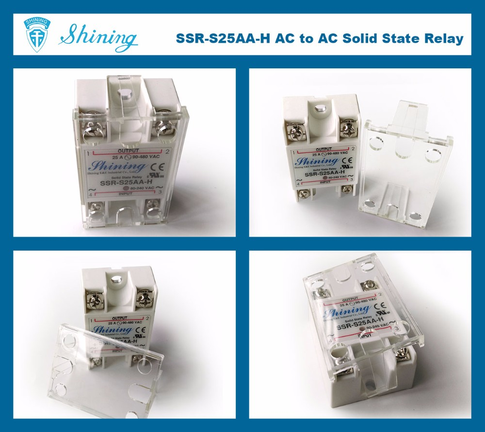 SSR-S25AA-H Shining 25A AC to AC UL High Power 240V Output Relay