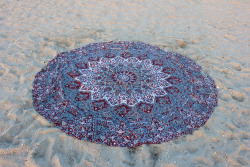 "72"" Indian Star Mandala Hippie Round Roundie Tapestries Hippy Boho Gypsy Cotton Round Beach Throw Yoga Mat Tassel"