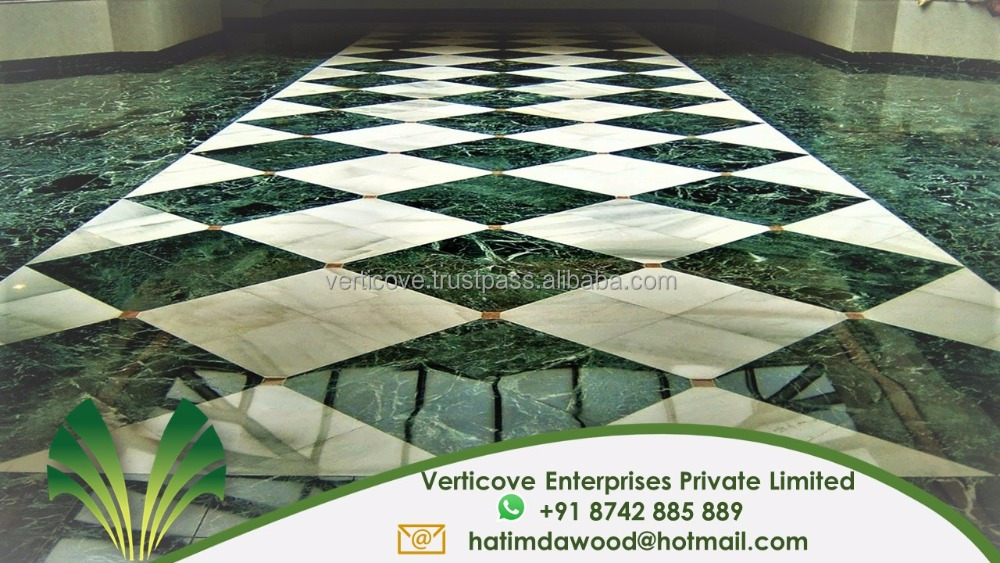 Indian Green Marble flooring and floor