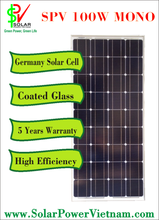 SPV 100w Mono Solar Panel for sale with tempered glass for grid-on/off solar system certificated by TUV
