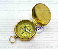 Smart Pocket Watch, Nautical Antique Brass Ship Compass, Compass Pocket Watch