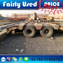 Used Hydraulic multi axles truck trailer, used low bed , used flat semi truck trailer