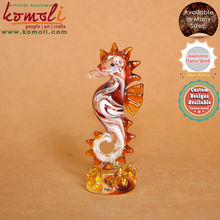 Mix Red lamp working sea horse statue glass seahorse figurine