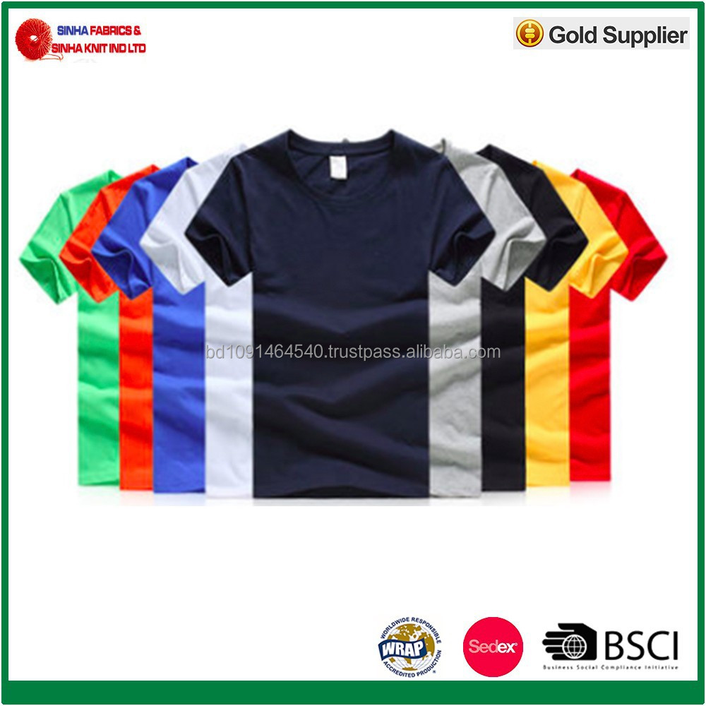 180g/m2 100% Cotton Single Jersey Promotion T-Shirt