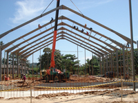 pre fabricated pre engineered steel structure warehouse