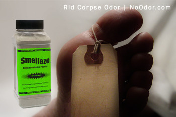 SMELLEZE Natural Corpse Odor Remover Deodorizer: 2 lb. Powder Removes Cadaver Odor