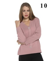 women stone tie accessories pink color sweater