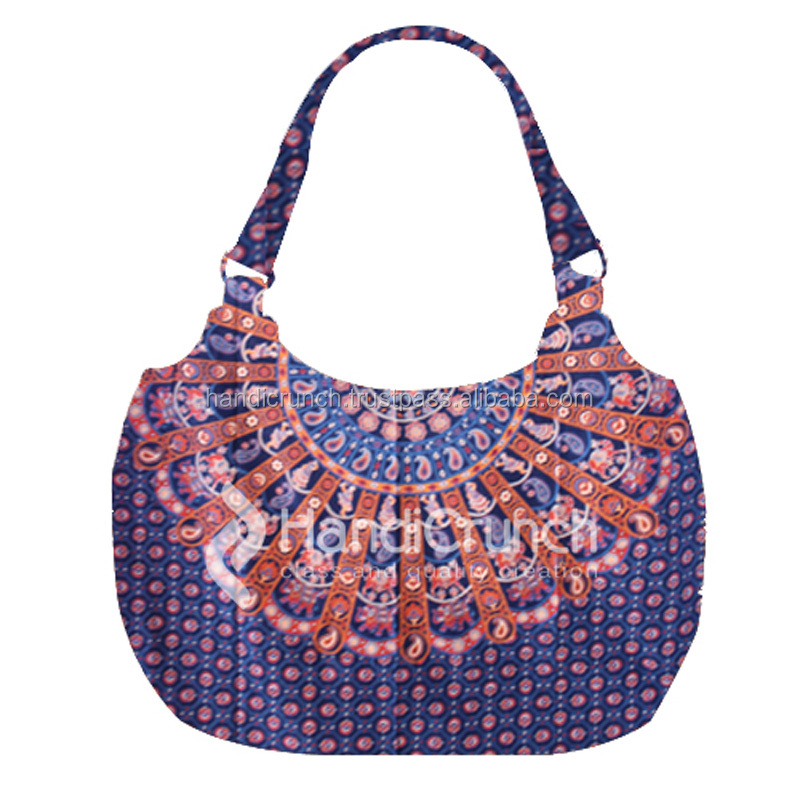 Blue Elegant Mandala hippie floral Bags for girls