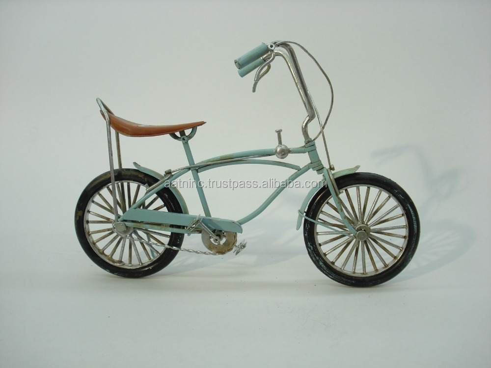 Vintage Antique iron crafts home decoration bicycle model