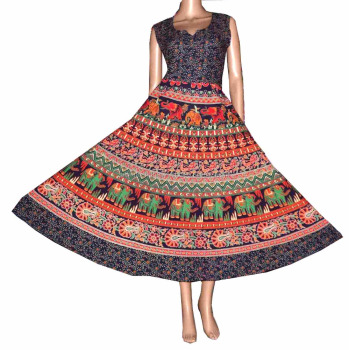 Jaipuri Print Cotton Dress