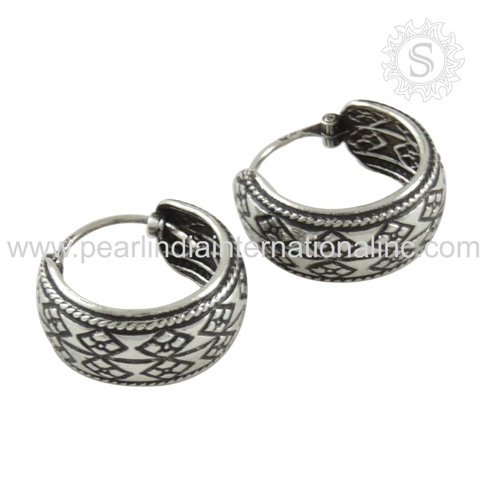 New Arrival 2016 Christmas Bali Design Handmade Silver Earring 925 Sterling Silver Jewelry Wholesale Silver Jewelry Supplier