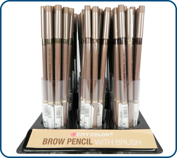 Wholesale City color Brow pencil with brush