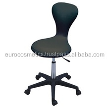 STOOL WITH BACK Black colour for beauty salon