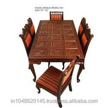 Traditional Hand Carved luxury teak wood Dining Set
