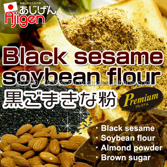 Natural and Easy to use production of sesame Black sesame Soybean flour with Flavorful made in Japan