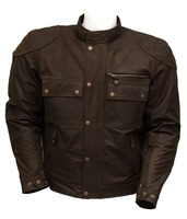 Mens Leather Biker Jackets The Legend Brown Jacket Motorcycle & Auto Racing 100% Genuine Leather Jacket for Men MB-06