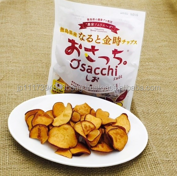 Various flavors of sweet potato vegetable chips for healthy snacks