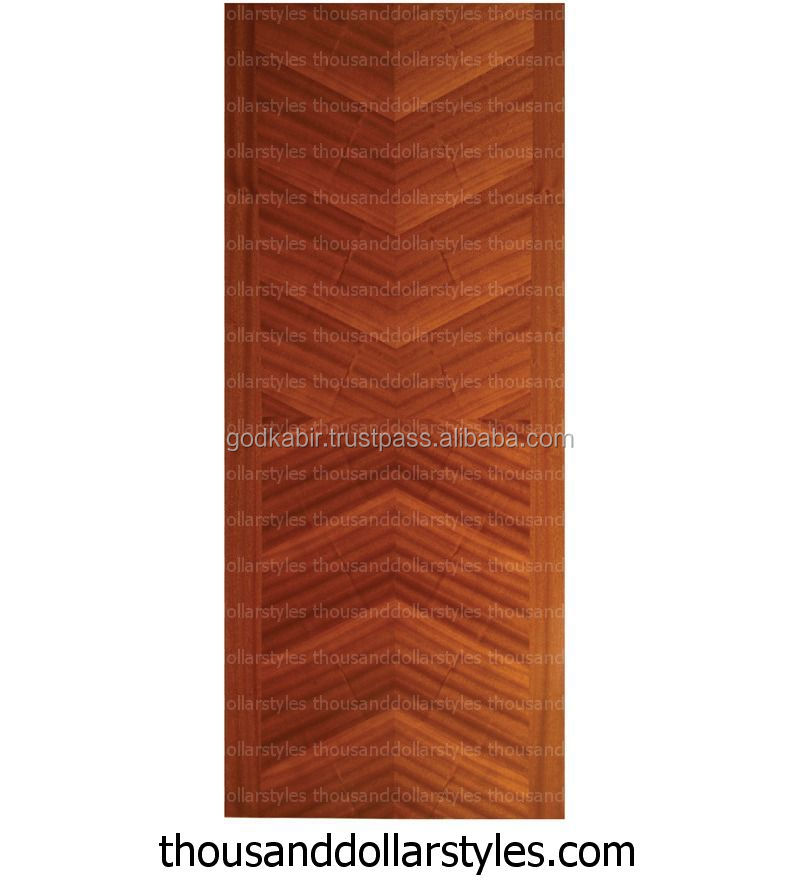 Stylist And New Modern Design Solid wood Made Vintage Durian Architectural Panel Veneer Flush Door In Matt Finish.