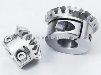 Straight miter gear with locking mechanism Module 2.0 Stainless steel Ratio 1 Made in Japan KG STOCK GEARS