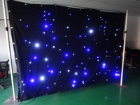 china wholesale led black and gold curtains for concernt/party