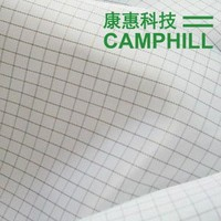 Lint Free Polyester Cleanroom ESD 5mm Stripe Grid Fabric/Antistatic 98% polyester, 2% carbon Fabric