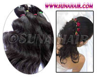 guangzhou body weavy human hair bulk without hair weft